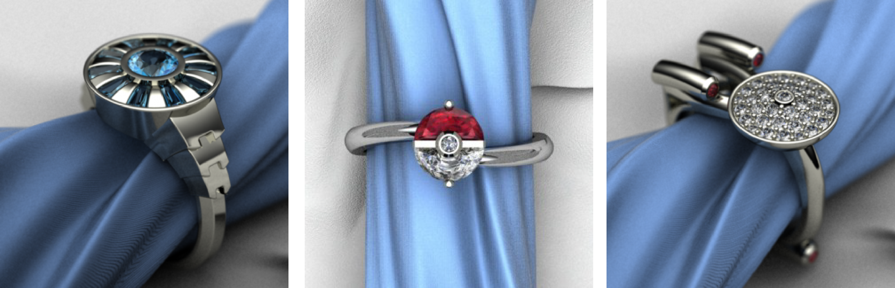 16 Gloriously Geeky Wedding Rings For Committed Nerds