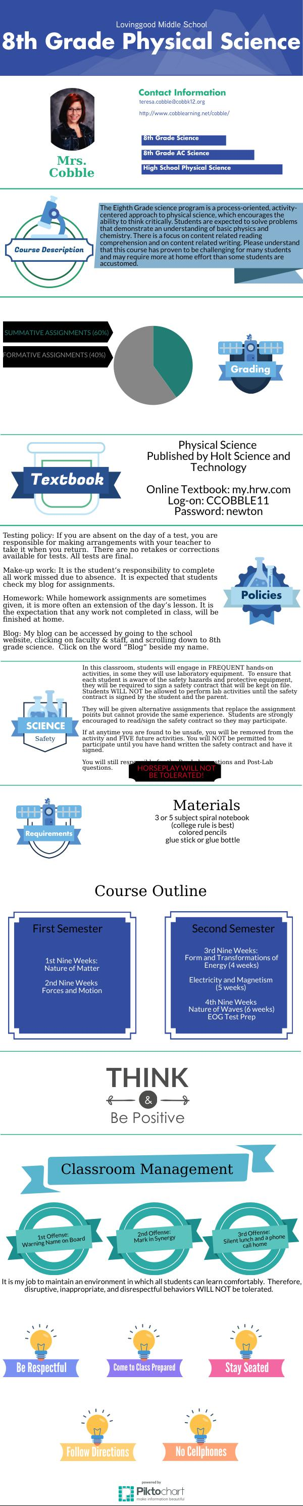 8th Grade Physical Science - Cobble | Piktochart ...