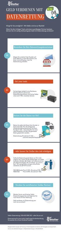 How to earn on data recovery German Poster