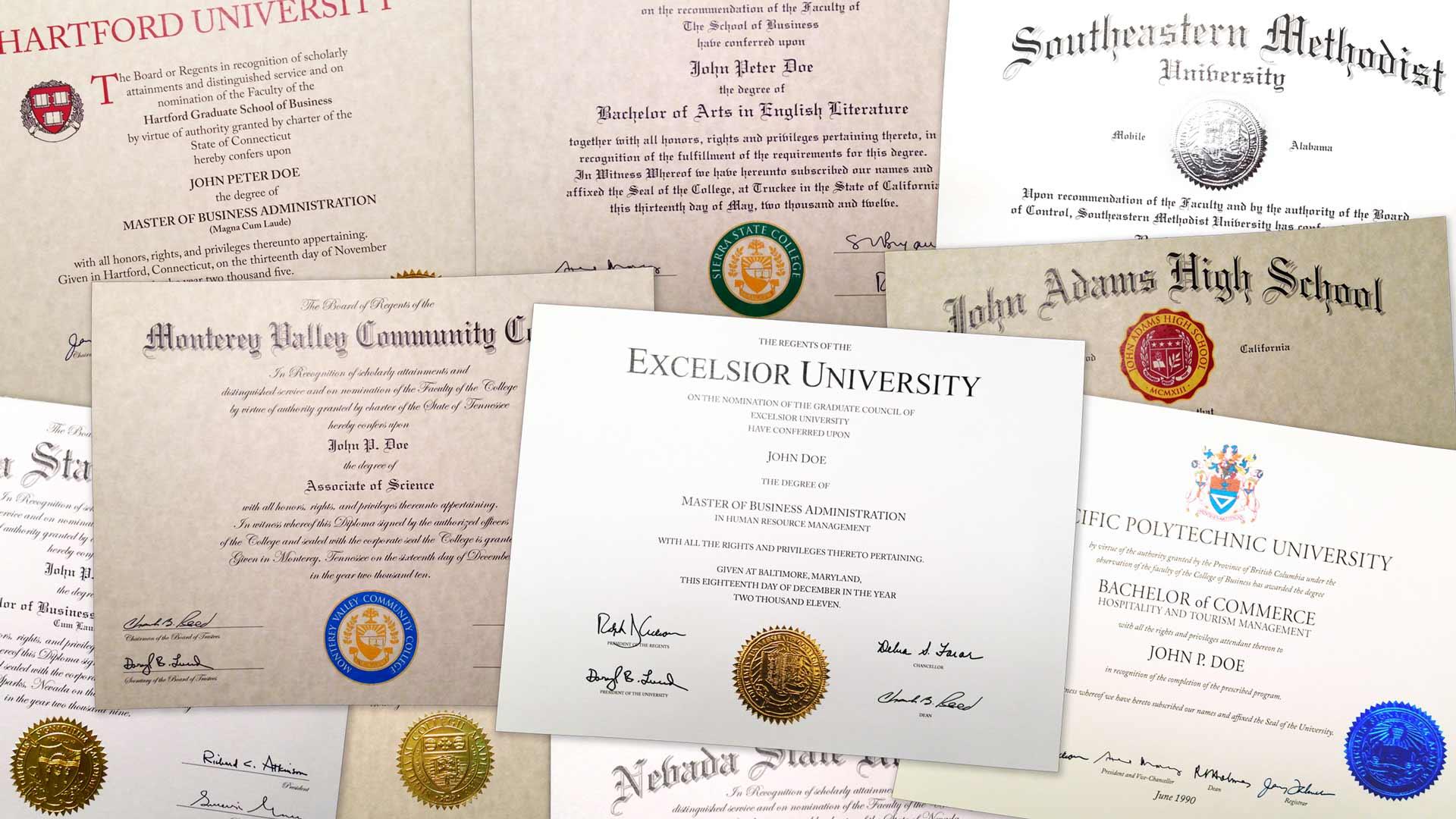 fake masters degree photos